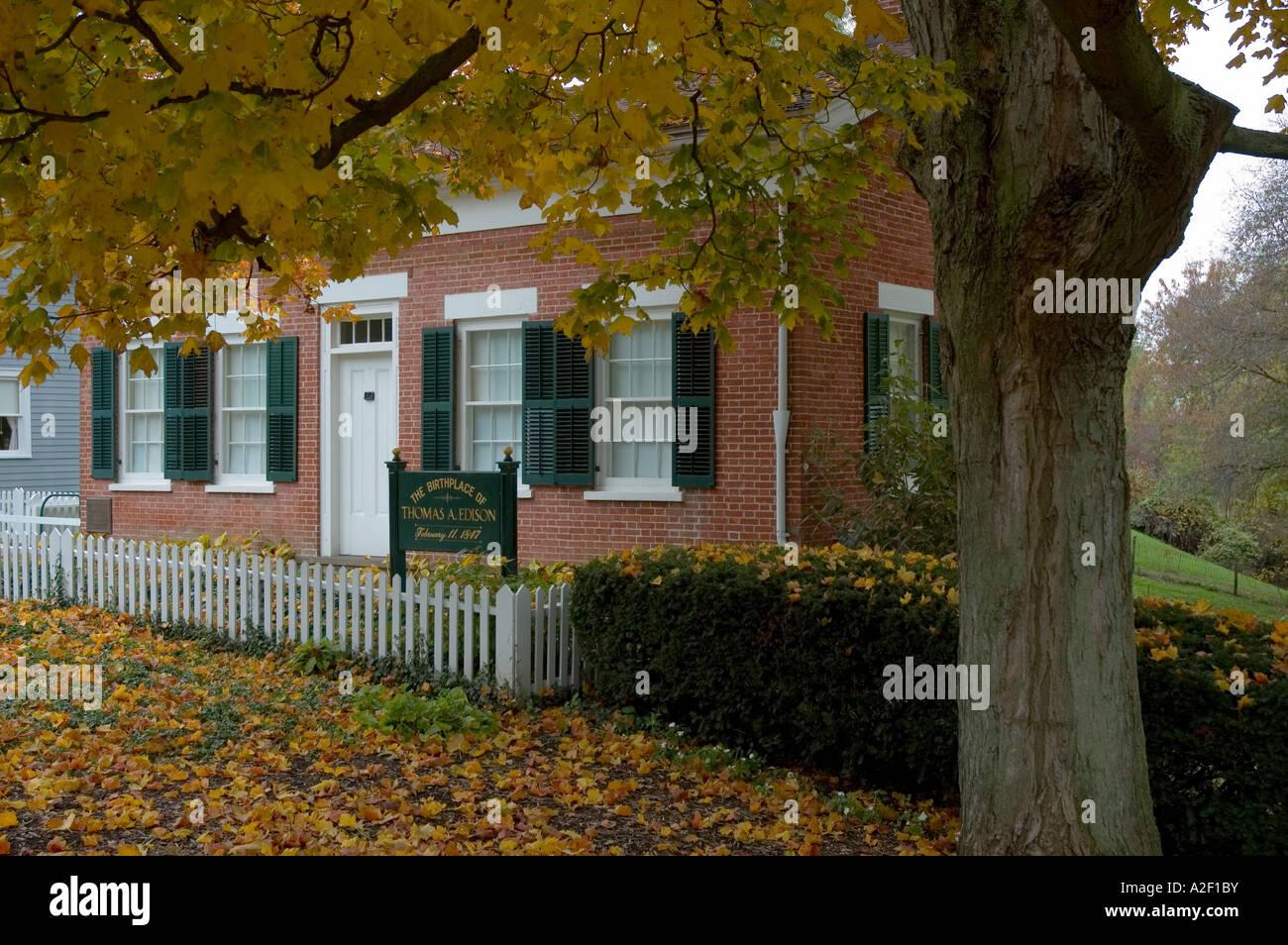 Ohio Commemorative Plate Thomas Edison Birthplace Milan