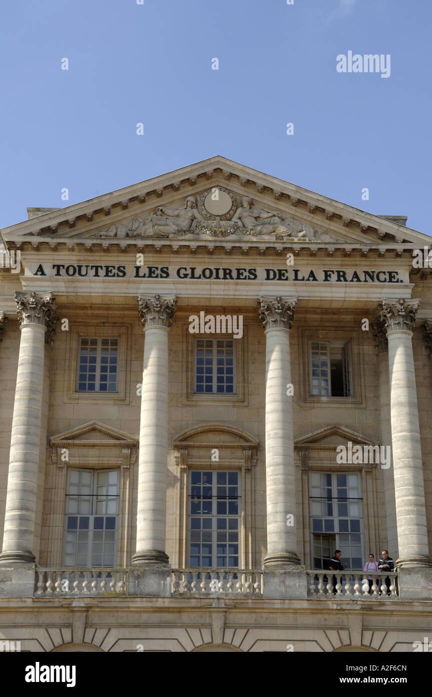 Paris, Versailles Castle, A Toutes Les Gloires De La France - Stock Image