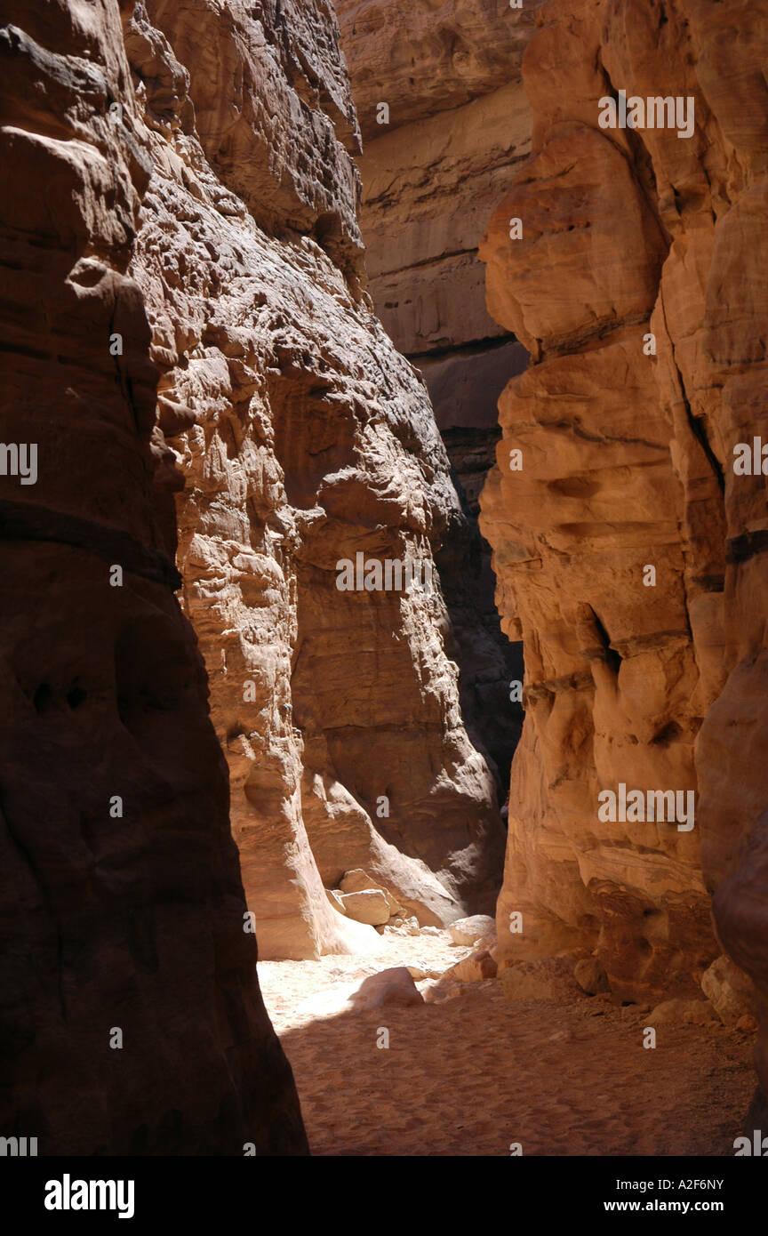 Coloured Canyon on Sinai Peninsula, Egypt - Stock Image