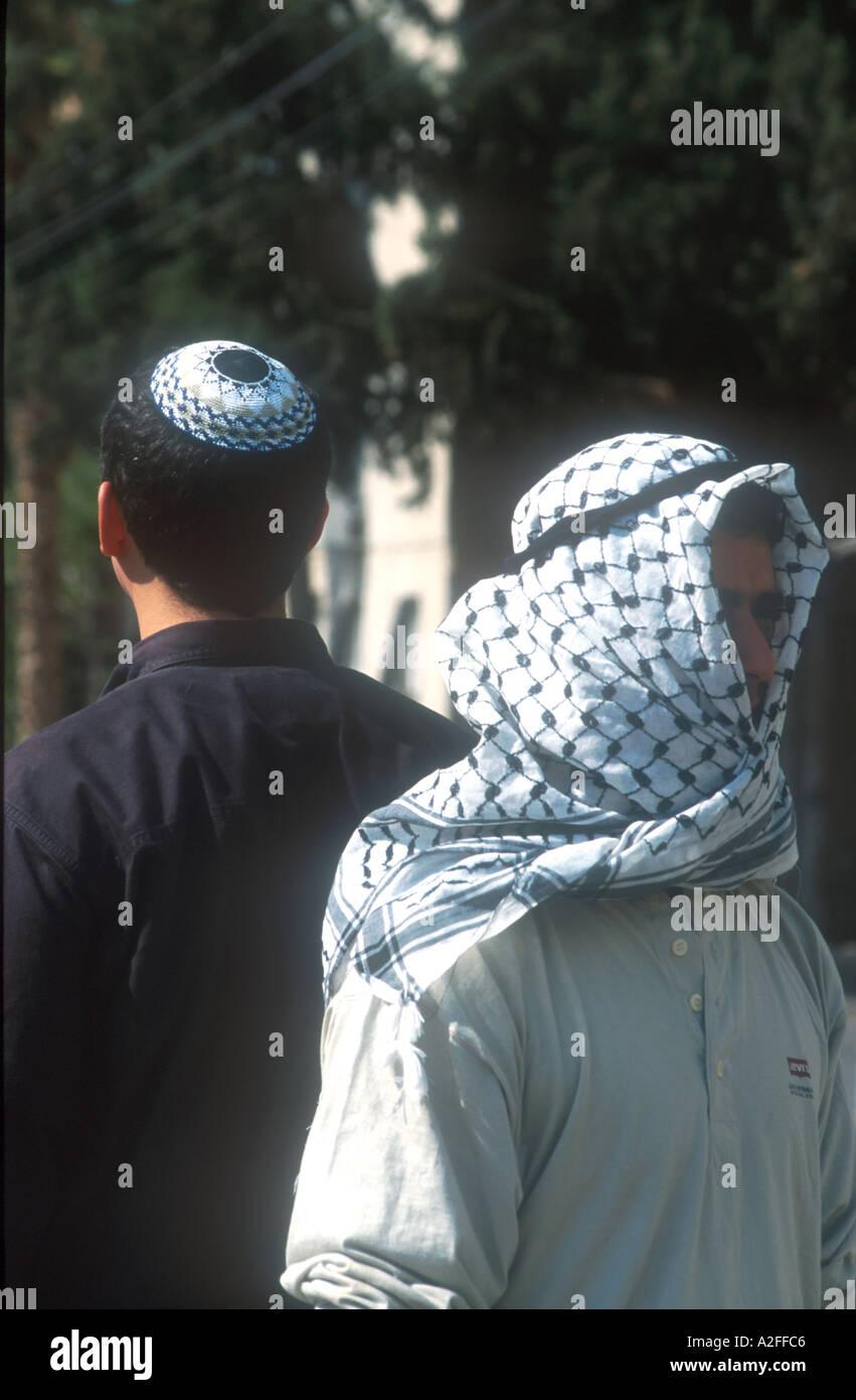 Jew and Arab - Stock Image