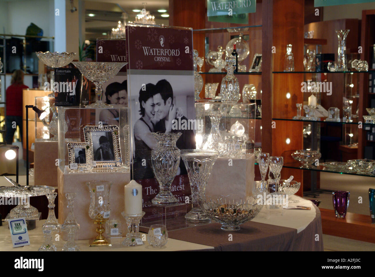 Waterford Crystal factory southern Ireland Eire EU sales display floor - Stock Image