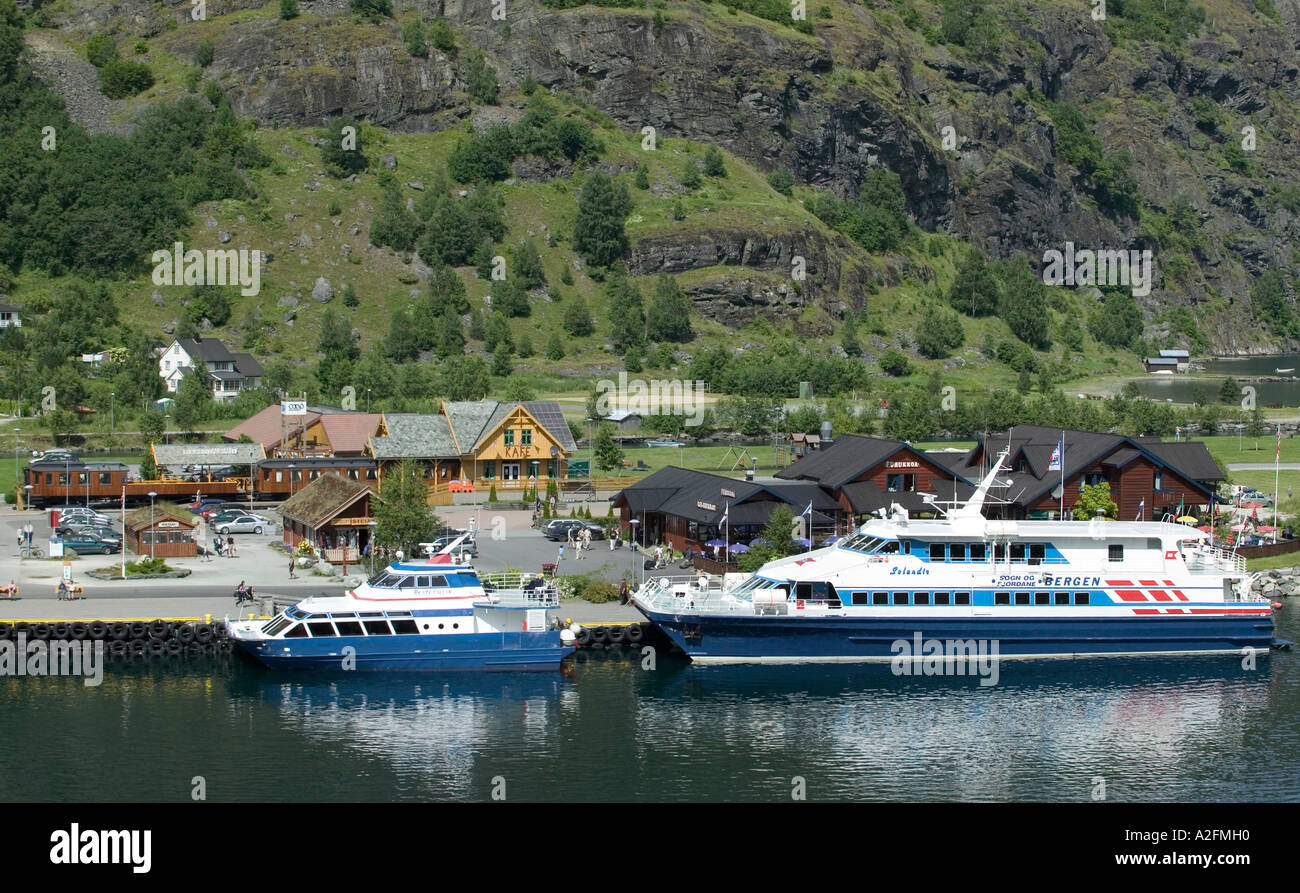 Fjord Tours In Flam Sognefjord Norway Stock Photo 6005263