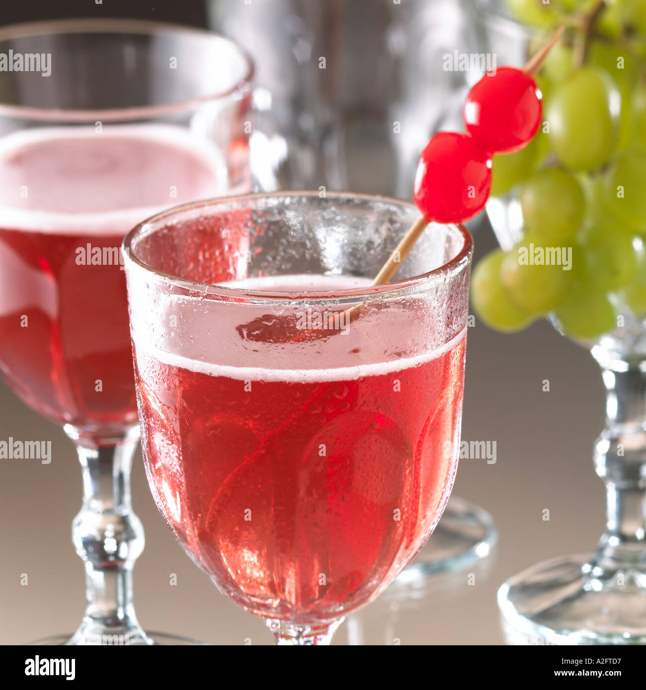 Cocktail Prost Cherry Brandy White Wine Crushed Ice