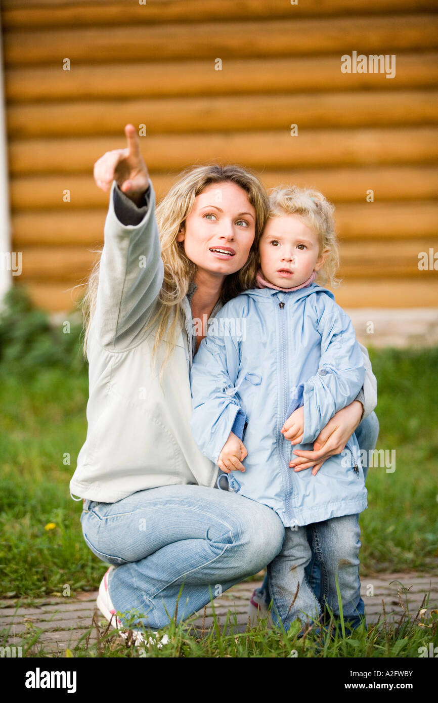 Mother with daughter - Stock Image