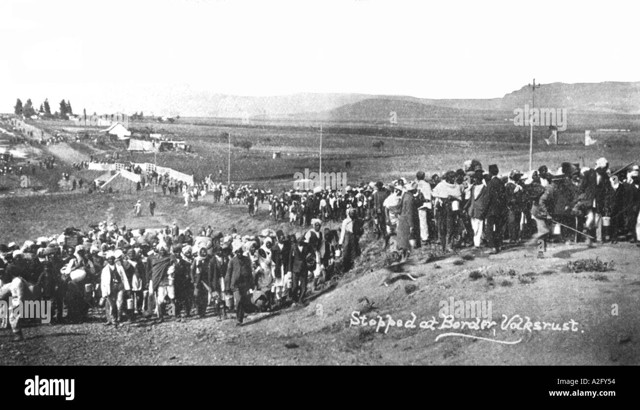 The Great March to the Transvaal 1913 South Africa - Stock Image