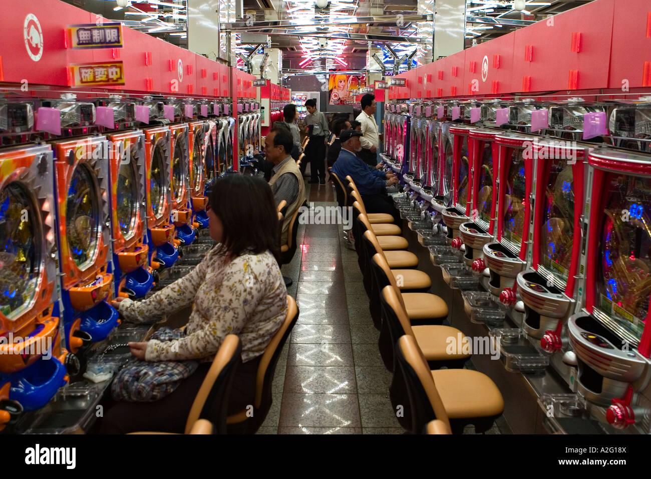 Pachinko parlor, Tokyo, Japan, Asia Stock Photo