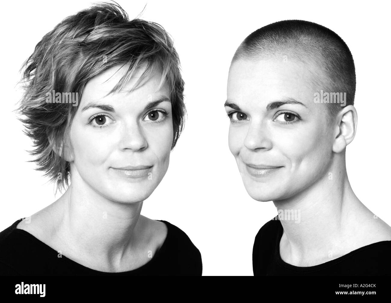 Women Skinhead Black And White Stock Photos Images Alamy