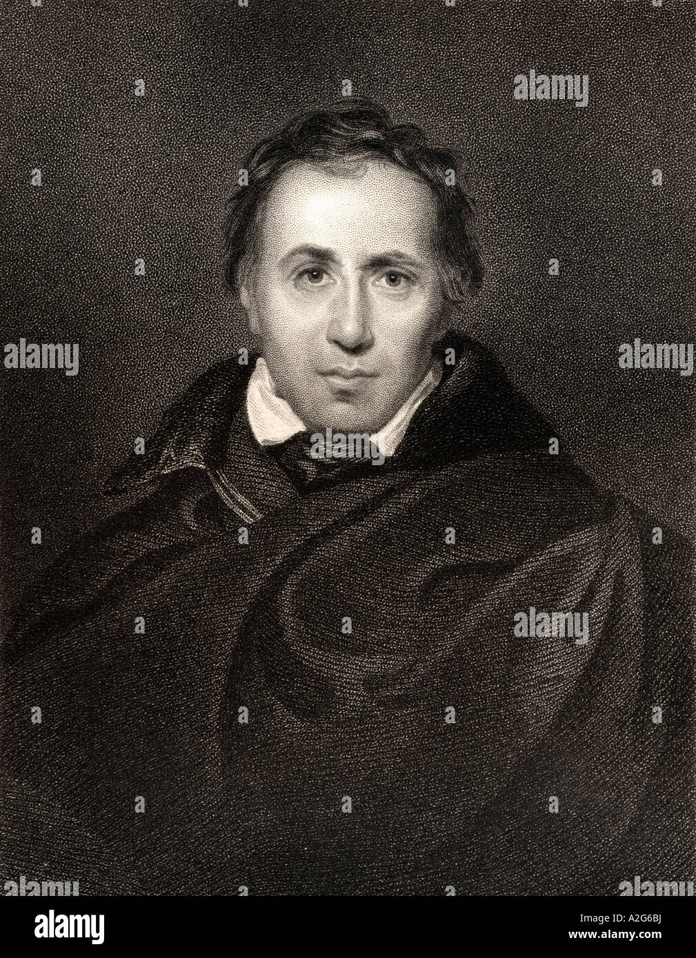 Allan Cunningham 1784 to 1842 Scottish poet and author - Stock Image