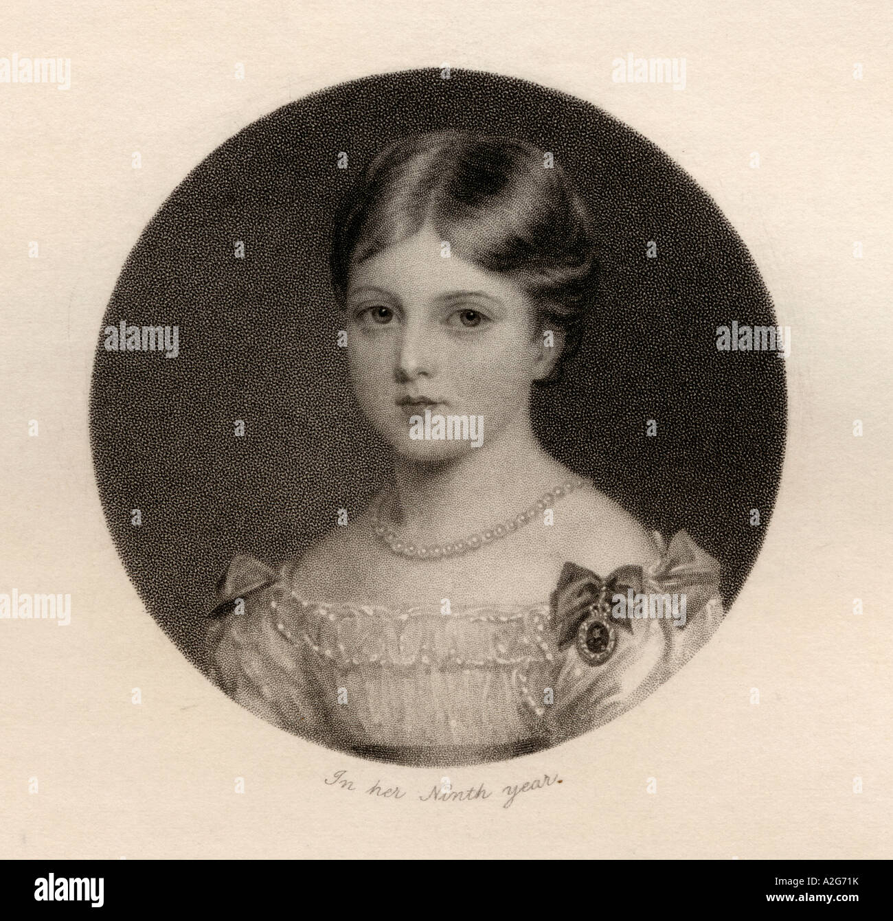 Princess Alexandrina Victoria of Saxe Coburg 1819 to 1901 later Queen Victoria - Stock Image