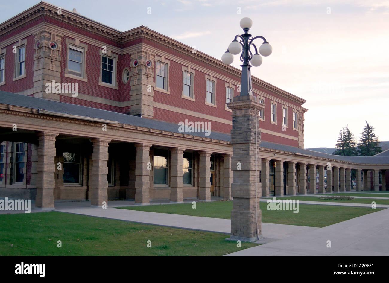 Livingston, Montana, railroad station - Stock Image