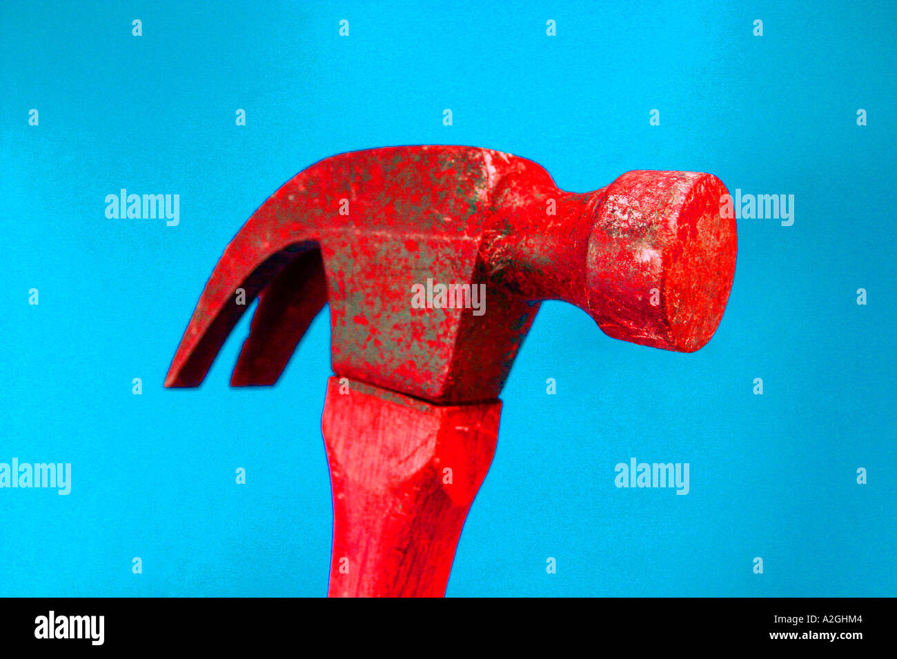 red claw hammer vivid colours - Stock Image