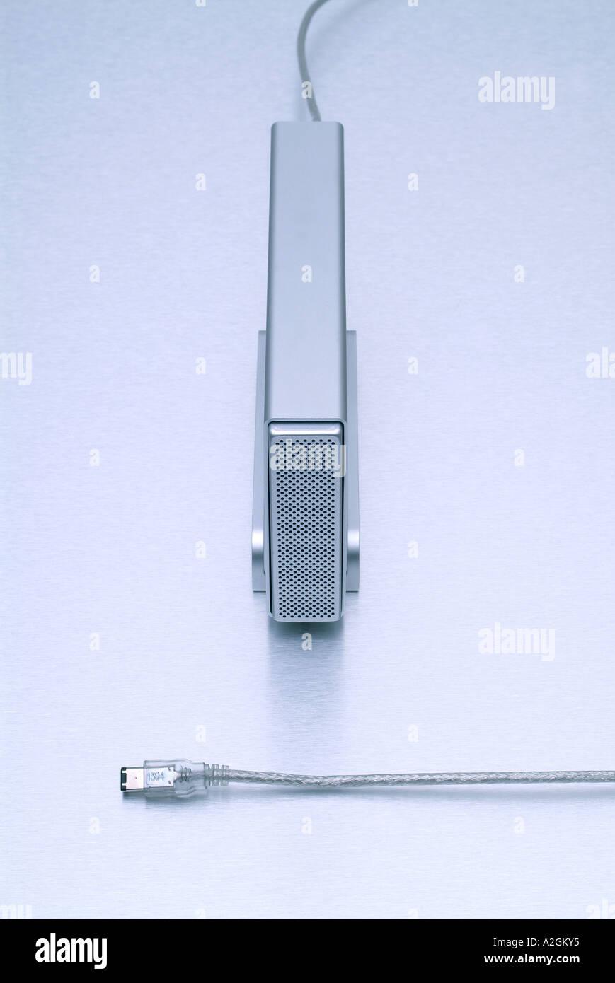 External Firewire Harddisk externe Firewire Festplatte - Stock Image