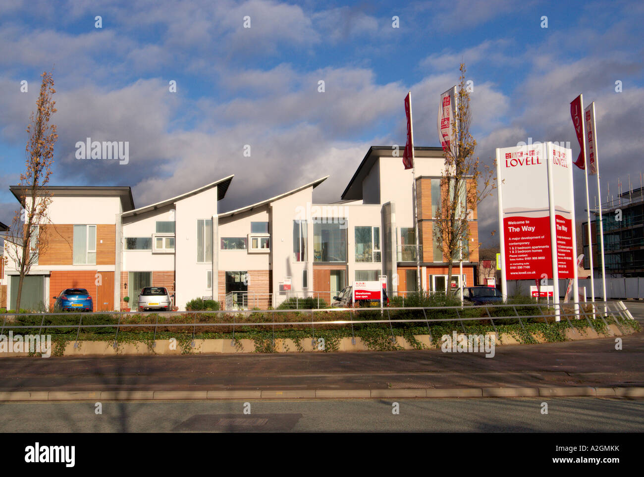 Innovative and environmentally friendly homes being built in the deprived and run down East Manchester area of Beswick - Stock Image