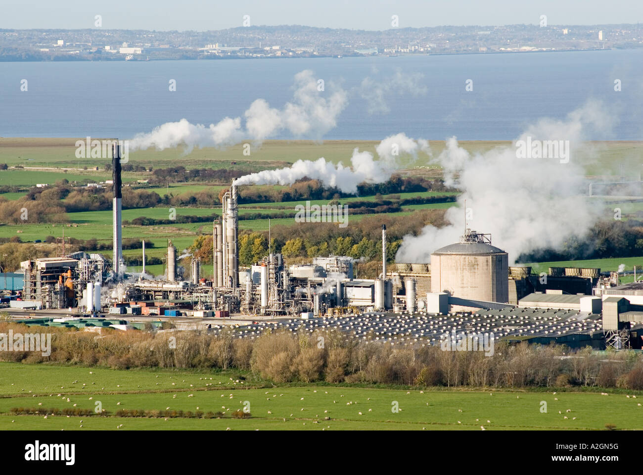 Kemira Growhow fertilizer factory at Ince near Helsby Cheshire UK - Stock Image