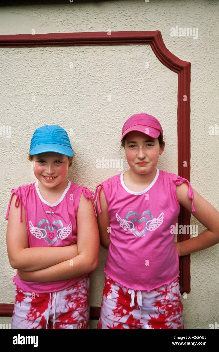 Ireland, County Louth, Carlingford, Redhead sisters Stock Photo