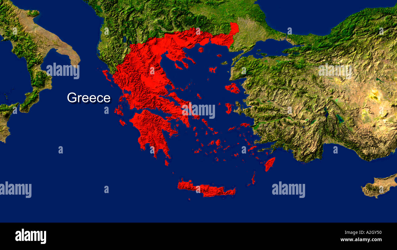 Satellite image of greece highlighted in red stock photo 3435343 satellite image of greece highlighted in red gumiabroncs Choice Image