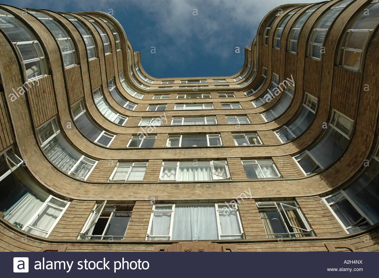 Hercule Poirot s Whitehaven Mansion in London Great Britain - Stock Image