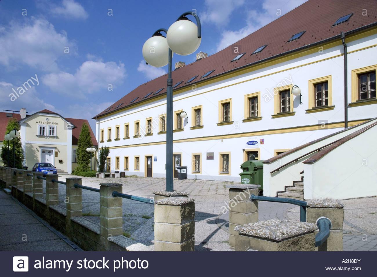 Former Feudal porcelain Factory Klasterec upon Ohre Ustecky Region Czech Republic - Stock Image
