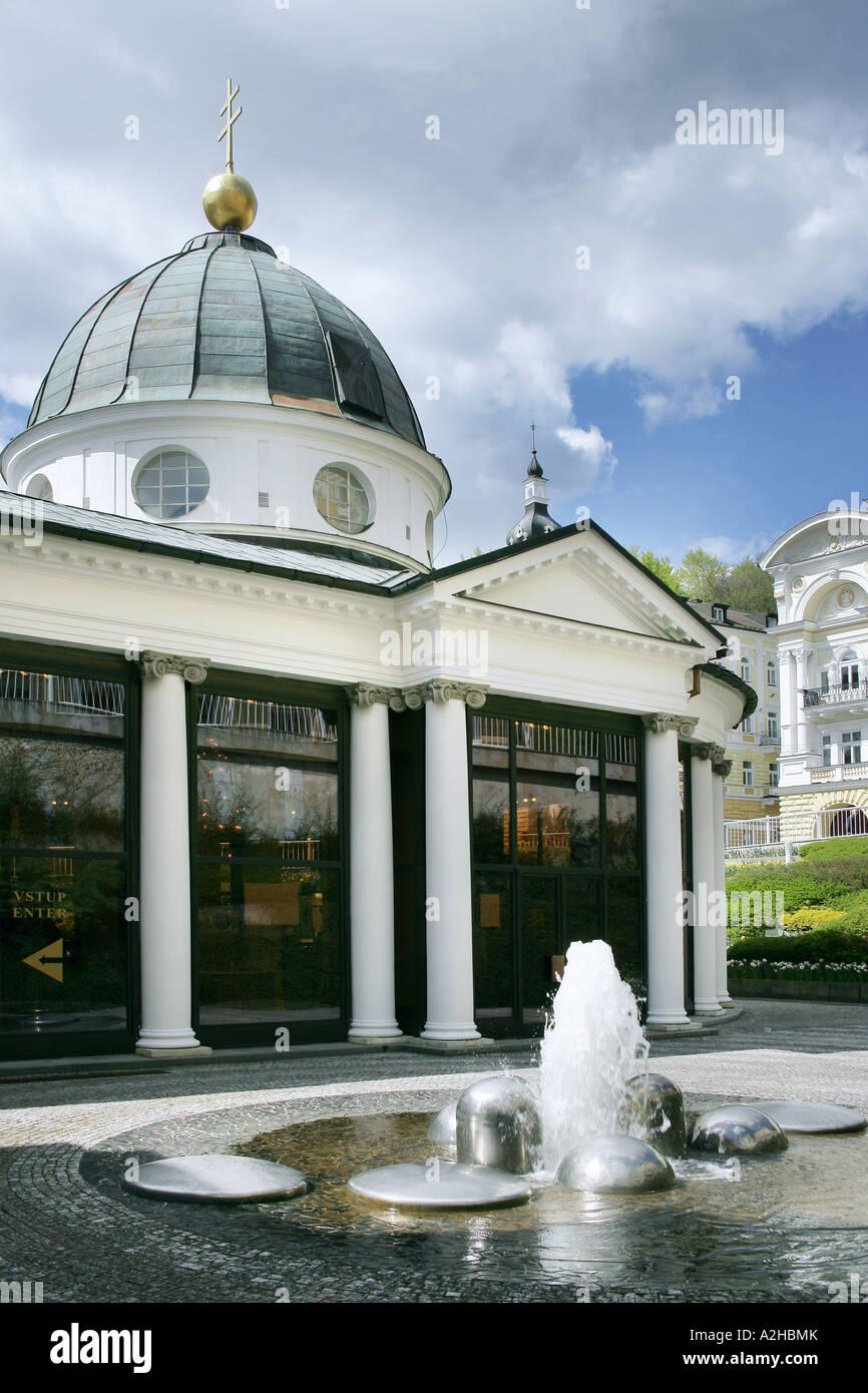 Cross Spring Pavilion Classicism Empire 1818 A Thurner Marienbad Czech Republic - Stock Image
