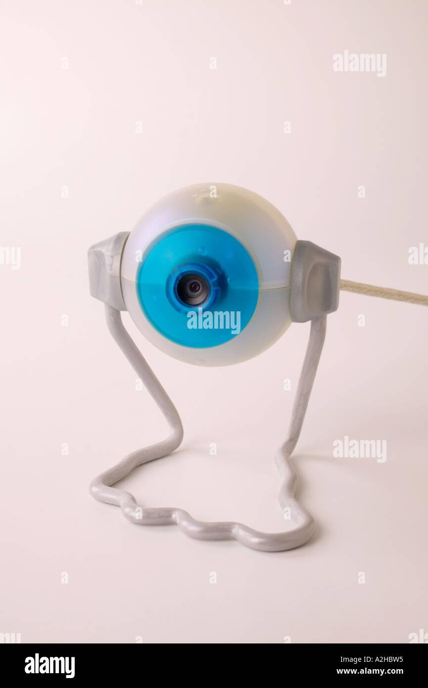 Round digital camera - Stock Image