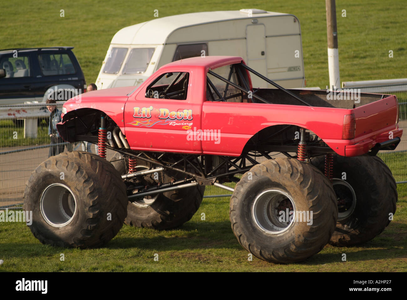 Suv Monster Truck Pick Up Truck Pickup Suburban Utility Vehicle Stock Photo Alamy