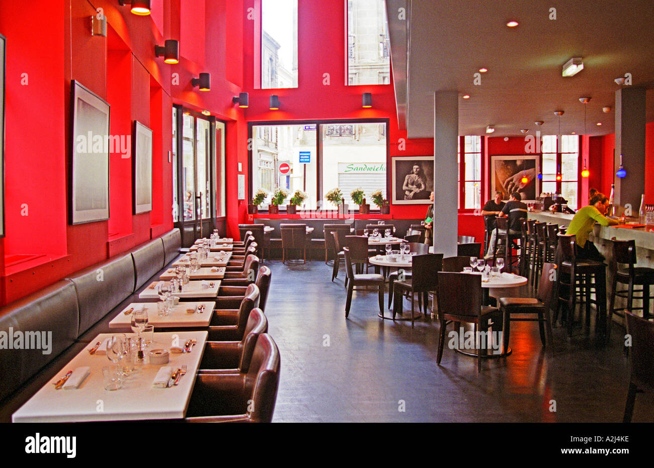restaurant le caf du th tre modern stylish restaurant in the old stock photo 6018365 alamy. Black Bedroom Furniture Sets. Home Design Ideas