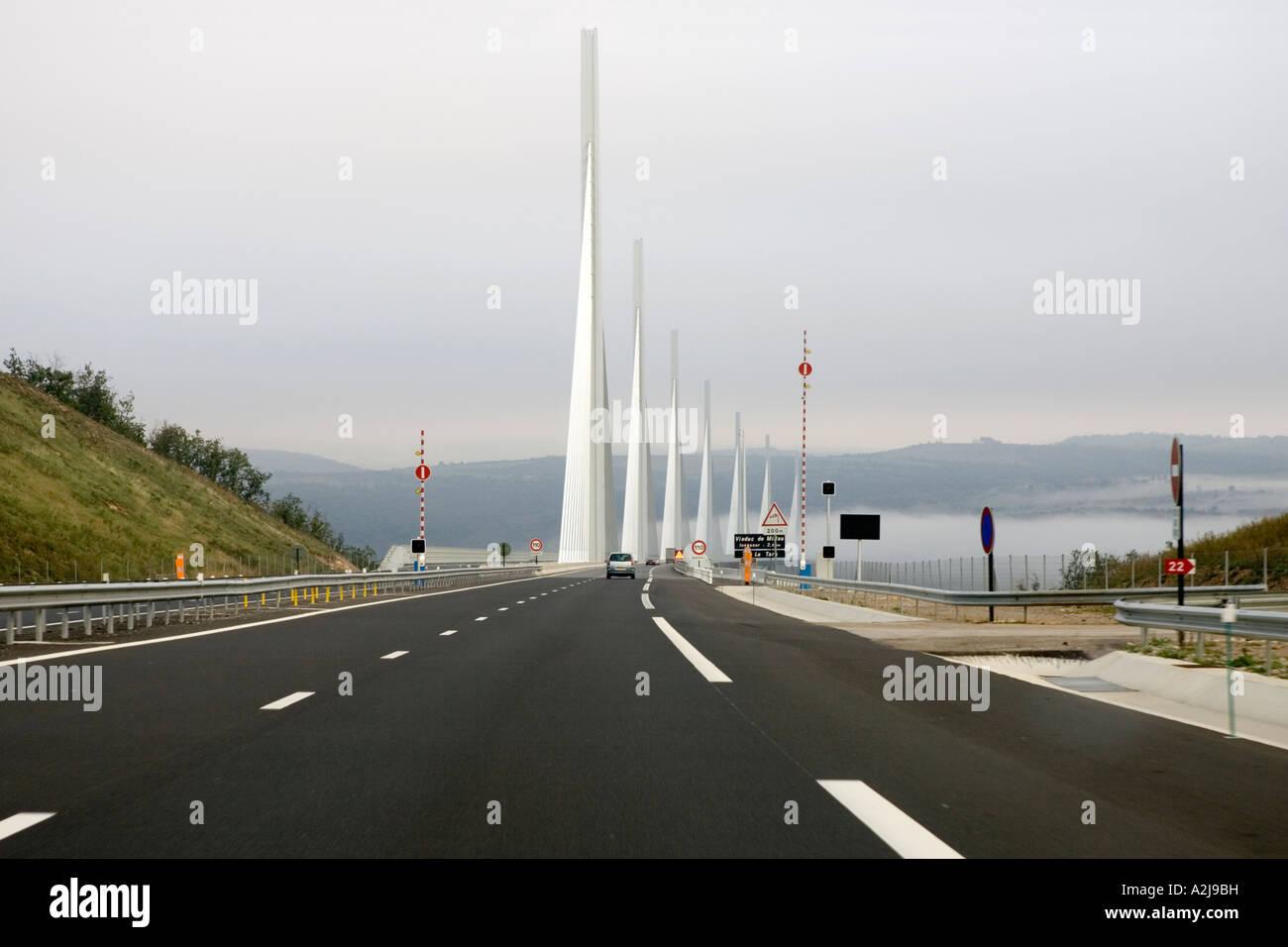 Southern End Millau Bridge A75 Midi Pyrenees France