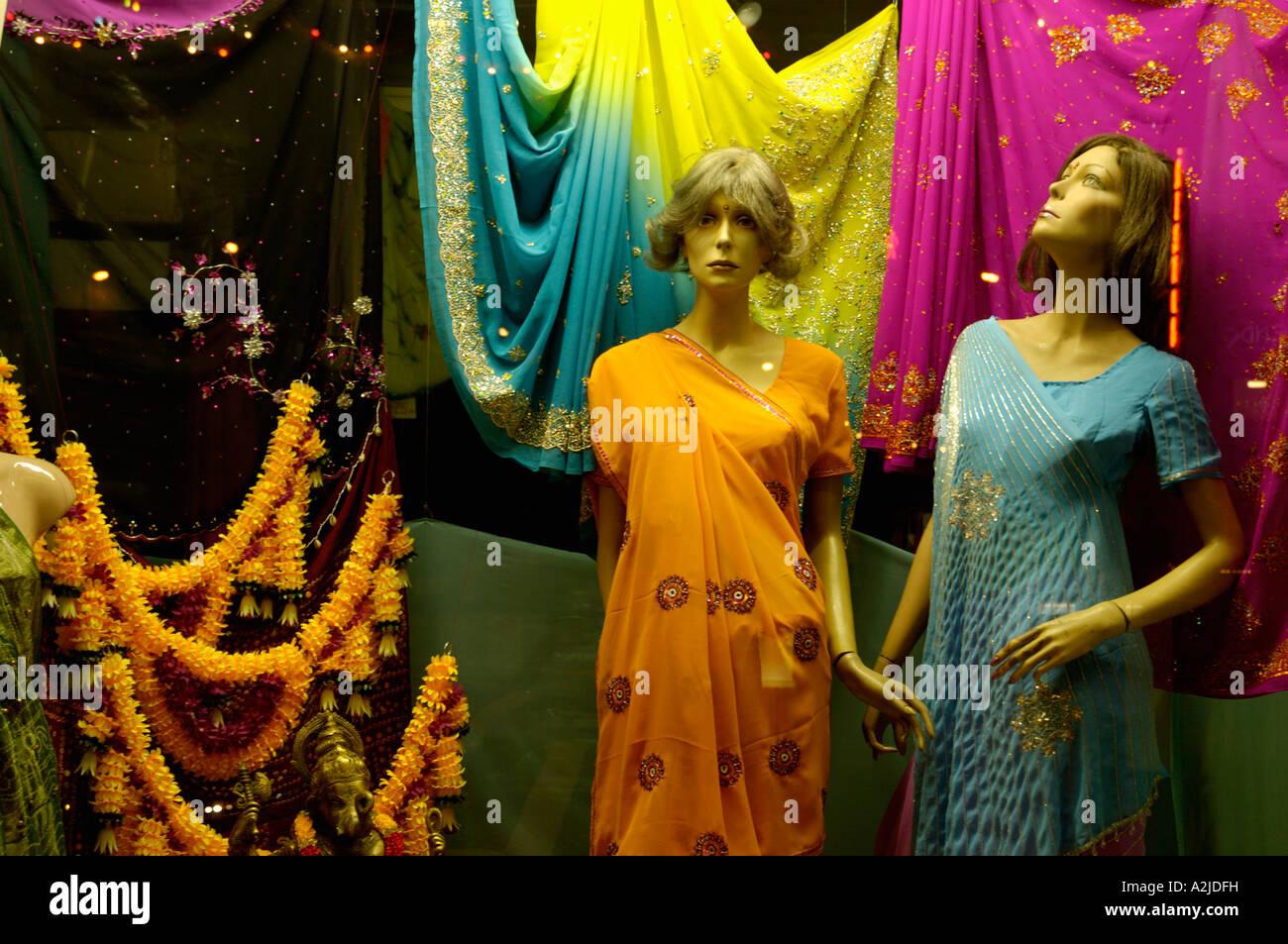 a9c36759afc Indian Clothes Shop Window Stock Photo  10535236 - Alamy