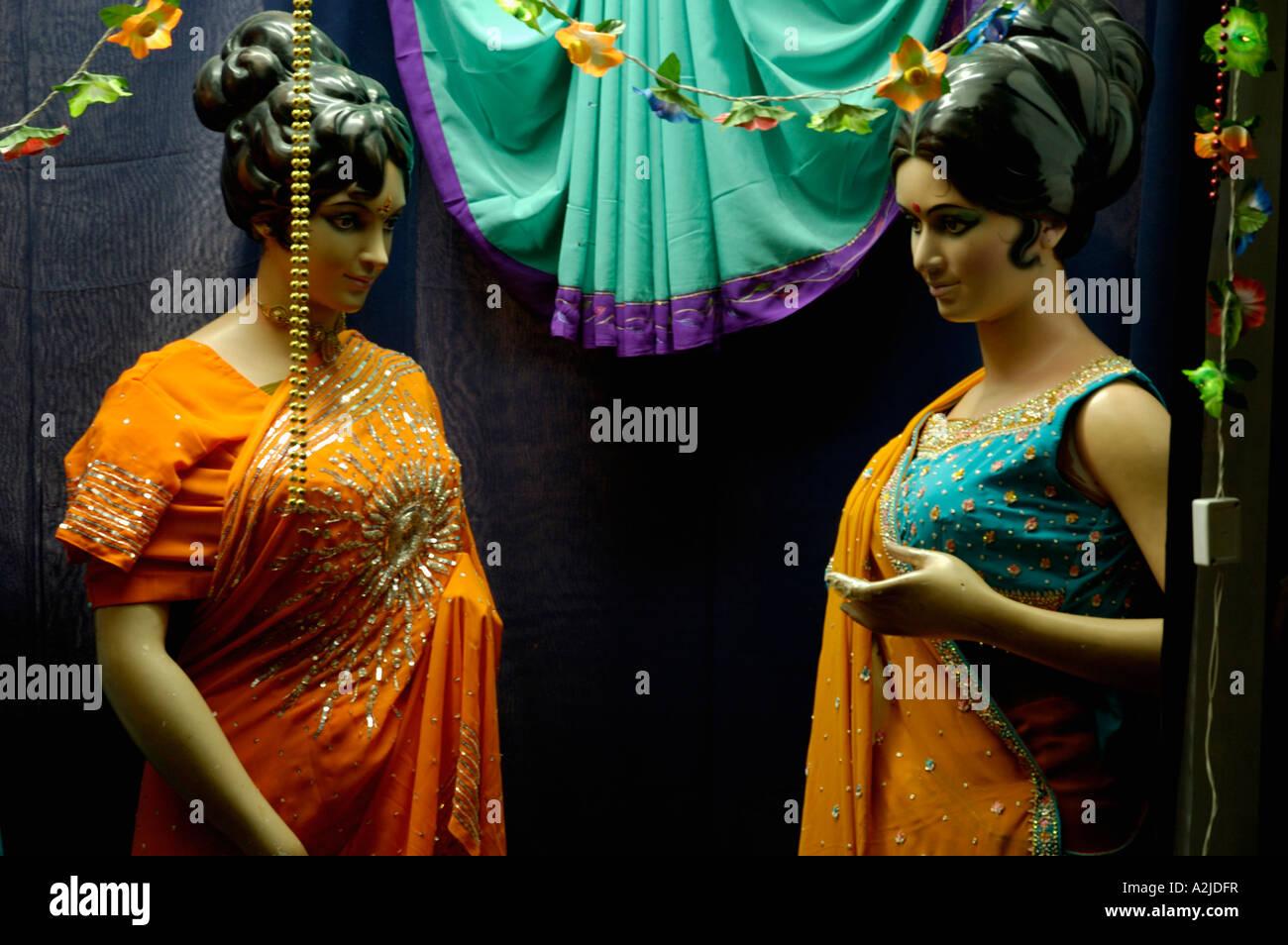 571ec508b04 Indian Clothes Shop Window Stock Photo  10535242 - Alamy