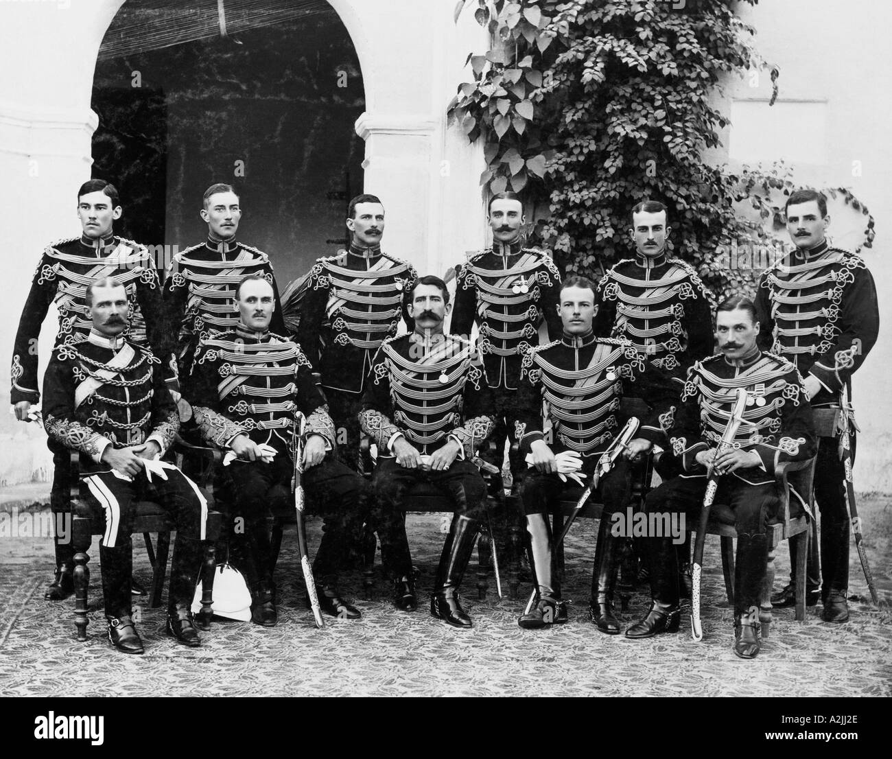 Members of the 25th Cavalry of the British Army in India in 1905 - Stock Image