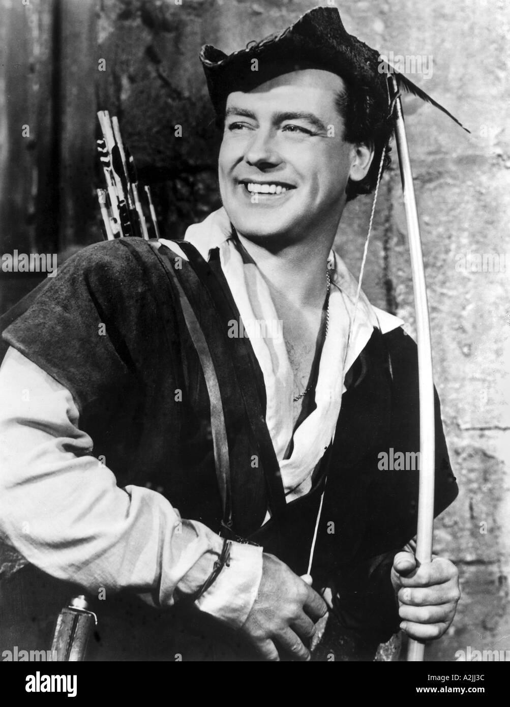 ADVENTURES OF ROBIN HOOD UK TV series from 1955 1960 with Richard Greene as Robin Hood - Stock Image