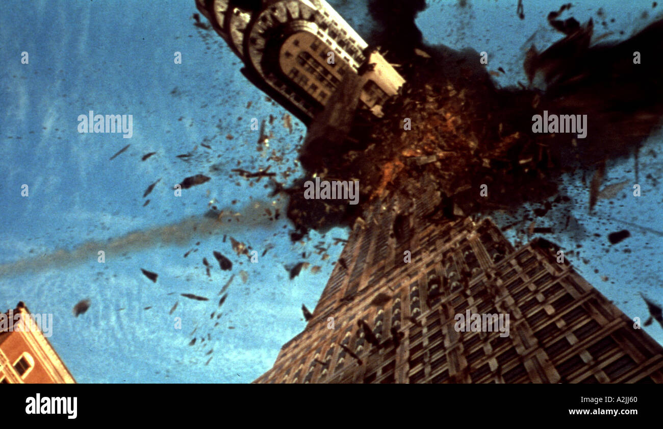 ARMAGEDDON The New York Chrysler Building under attack in this 1998 film - Stock Image