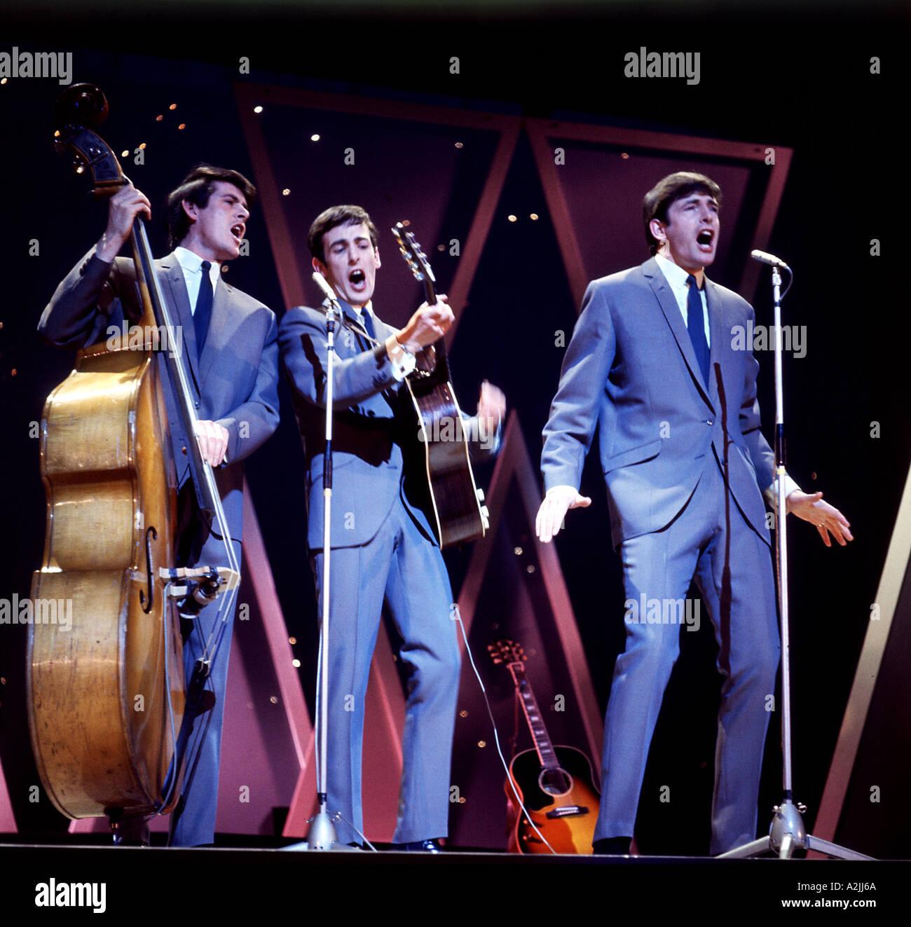 BACHELORS Irish music trio popular in the 1960s here on UK TV s Saturday Night At The London Palladium - Stock Image