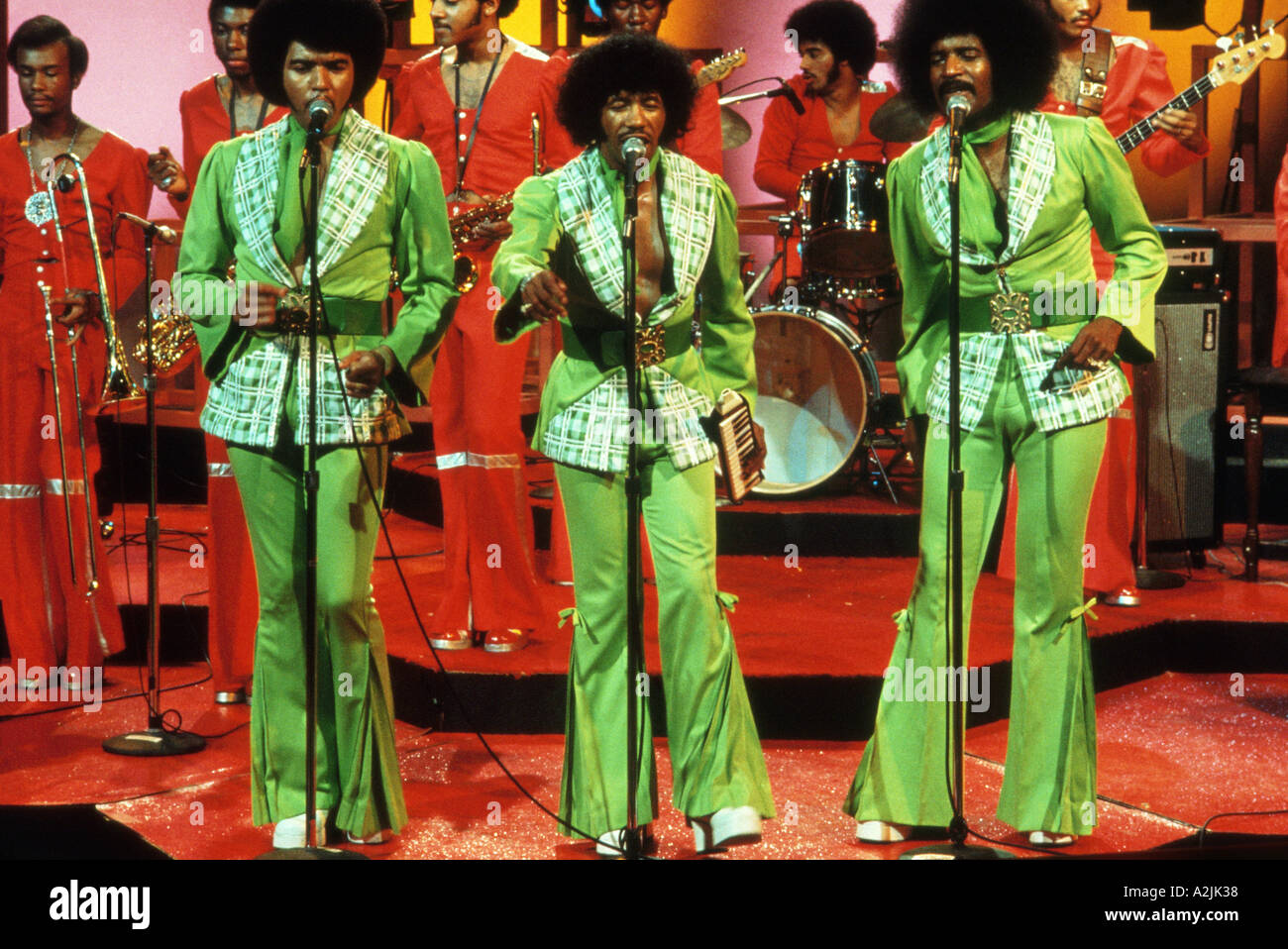 CHI LITES US soul group in the 1970s - Stock Image