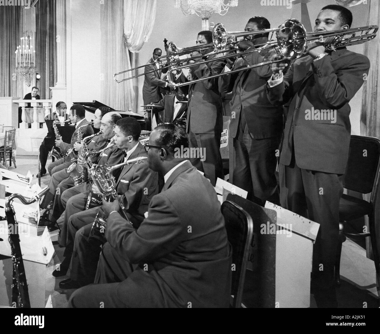 COUNT BASIE 1904 1944 with his band - Stock Image