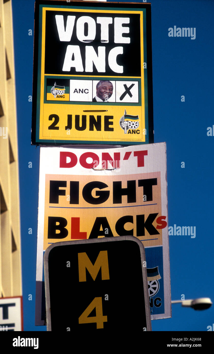 ANC election posters in Cape Town South Africa - Stock Image
