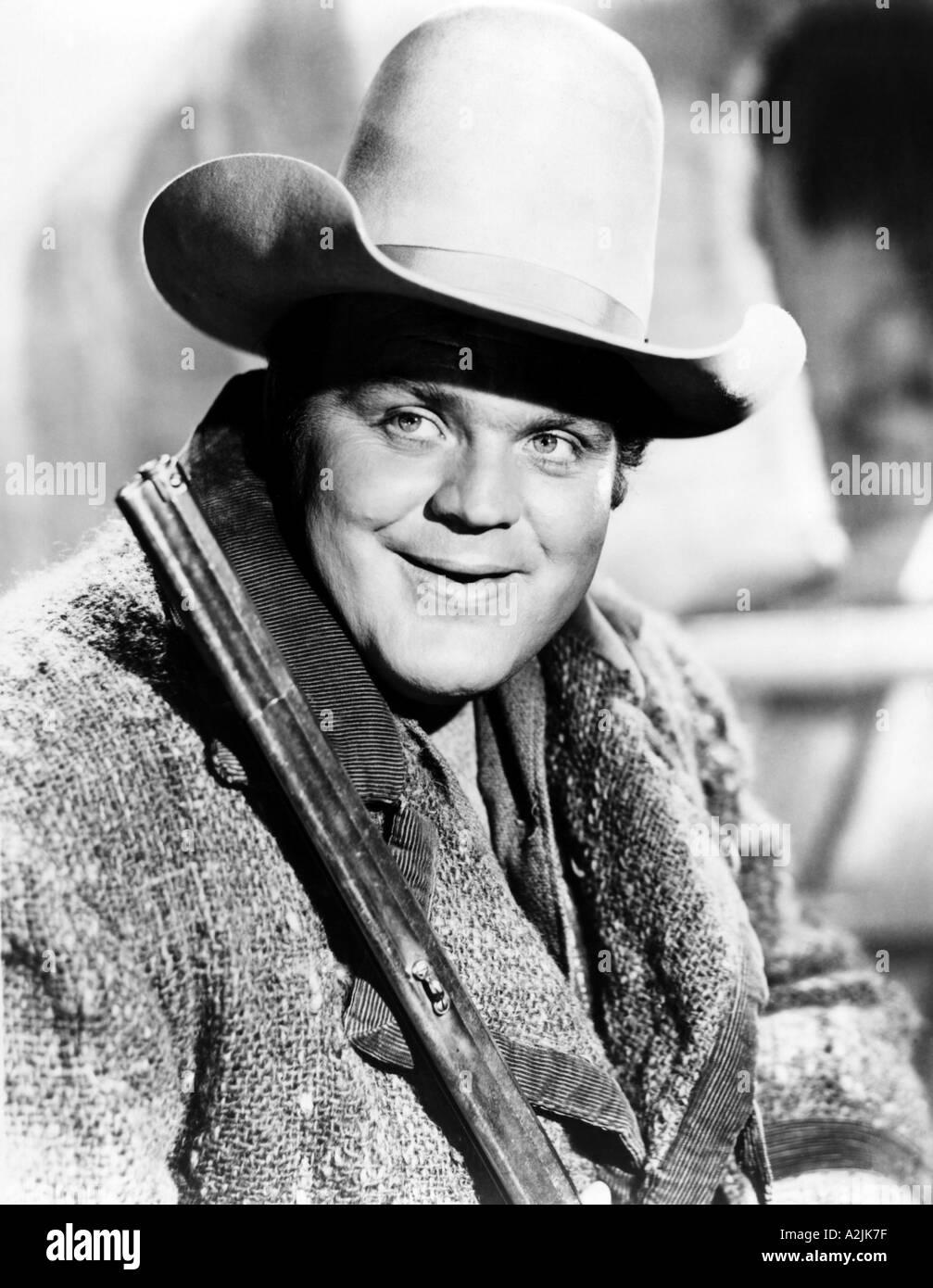 DAN BLOCKER American actor here in TV series Bonanza - Stock Image