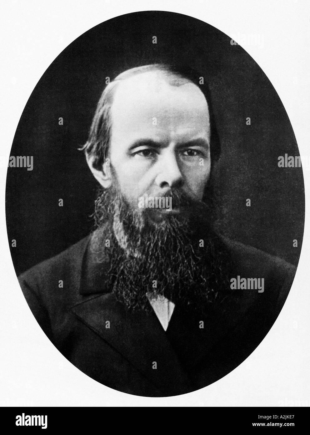 Fyodor Dostoievsky 1821 1861 Russian writer - Stock Image