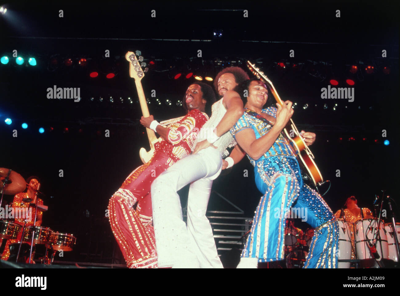 EARTH WIND &  FIRE  US band about 1982 with Maurice White centre. Photo Jeffrey Mayer - Stock Image