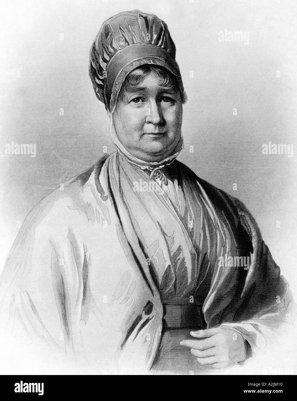Elizabeth Fry 1780 1845 English prison reformer and Quaker - Stock Image