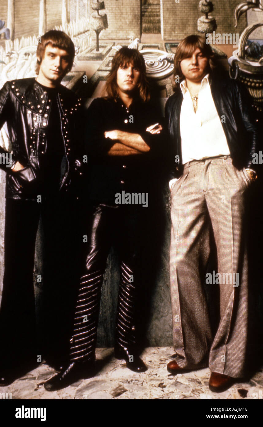 EMERSON LAKE AND PALMER UK group from l Carl Palmer Keith Emerson Greg Lake about 1978 - Stock Image