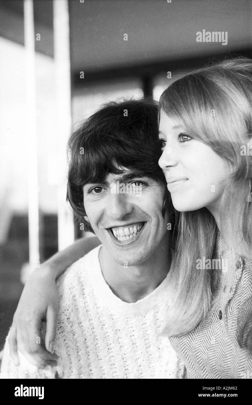 BEATLES George Harrison And Patti Boyd On Their Honeymoon In Barbados February 1966