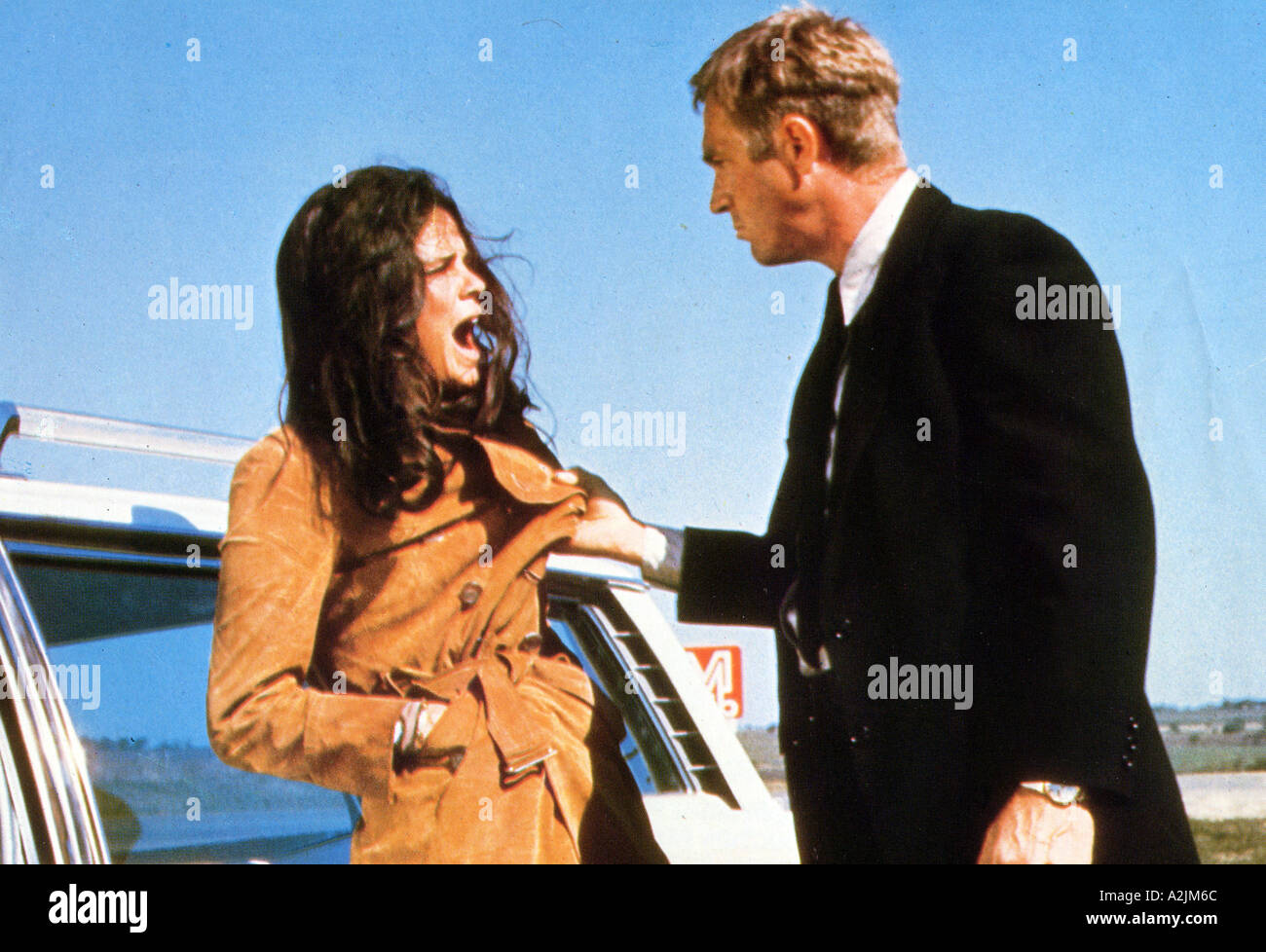 GETAWAY 1972 film with Steve McQueen and Ali MacGraw - Stock Image