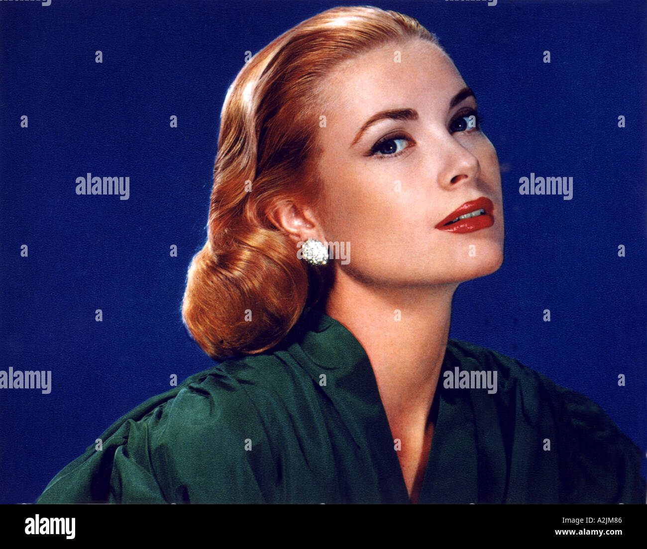 GRACE KELLY 1928 82 American film actress who married Prince Ranier of Monaco - Stock Image