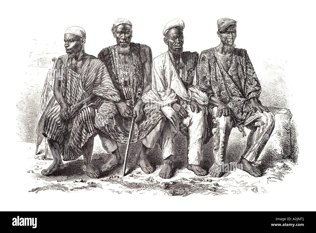 Africa African Man costume national dress traditional clothing men north east sat seated muslim islam pilgrim berber mali robe  sc 1 st  Alamy & Africa African Man costume national dress traditional clothing men ...