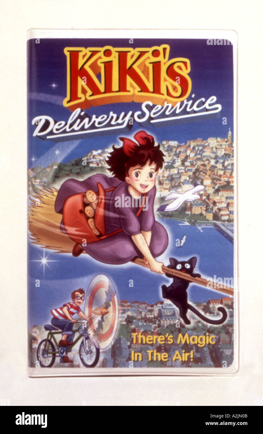 KIKI S DELIVERY SERVICE retail video sleeve for Japanese cartoon character - Stock Image