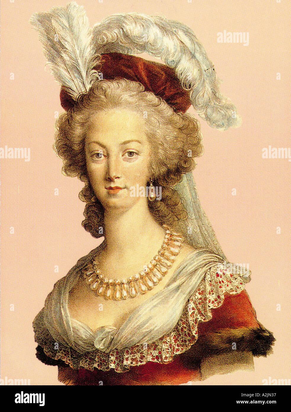 MARIE ANTOINETTE Queen of France 1755 1793 - Stock Image