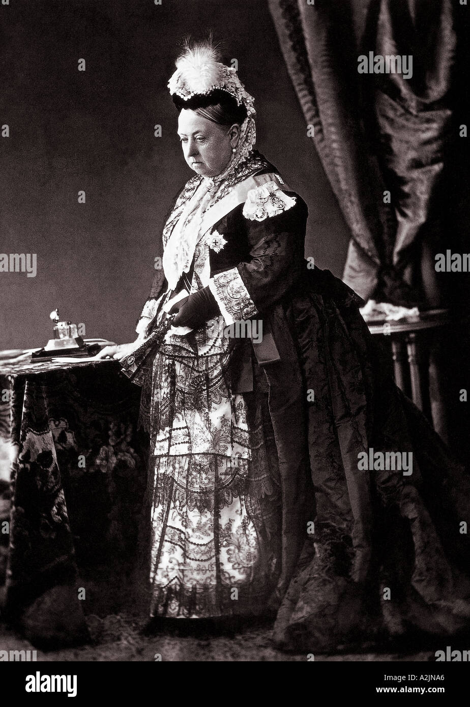 QUEEN VICTORIA in 1887 - Stock Image