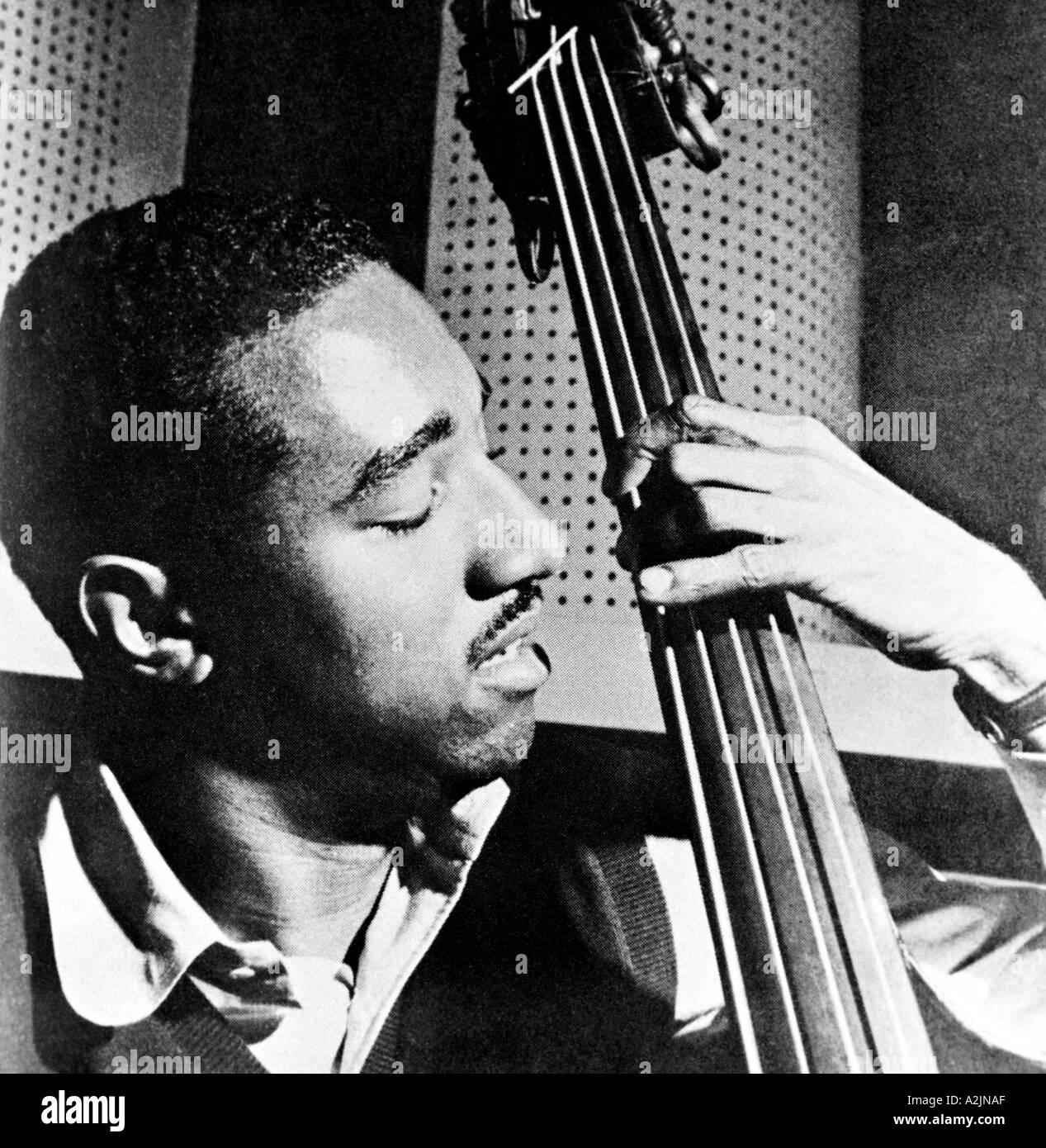 RAY BROWN American jazz bass player 1926 2002 - Stock Image