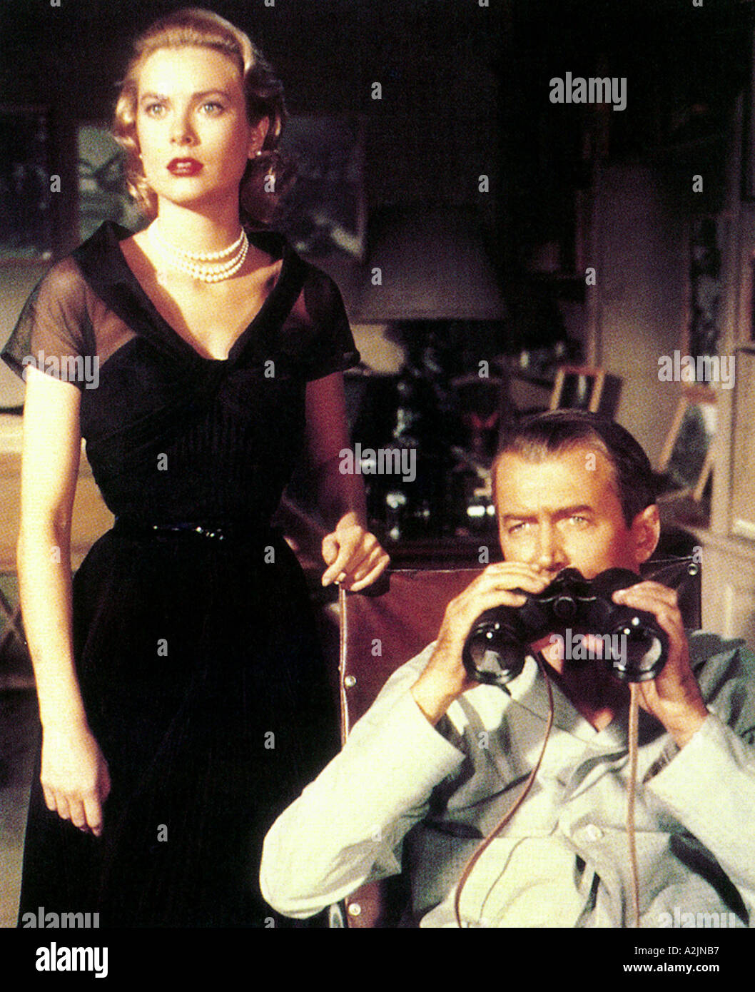 REAR WINDOW 1954 film with Grace Kelly and James Stewart - Stock Image